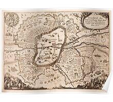 Vintage Map of Nuremberg Germany (1642) Poster