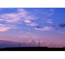 Magic Sky 2 - Radio Tower Photographic Print