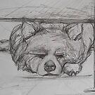 RocketMan Asleep at Top of the Stairs by Karen Gingell