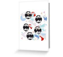 Memphis geometric design Greeting Card