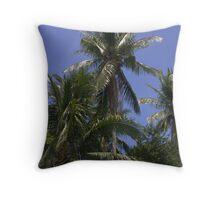 Rural Palms Throw Pillow