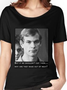 Jeffrey Dahmer vegan bingo Women's Relaxed Fit T-Shirt