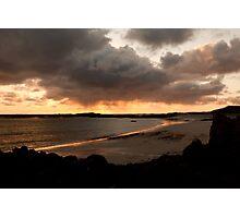 A Flash of Sunset nr Kilkenneth Photographic Print