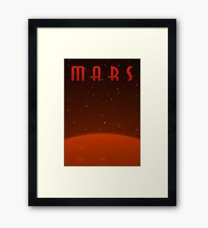 Retro-Style Mars Poster Framed Print