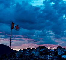 O Canada Sunset by Jean Poulton
