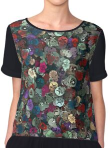 Suicide squad. sticker bombing Chiffon Top