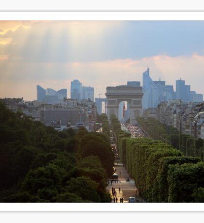 Looking West along the Champs-Elysées Sticker