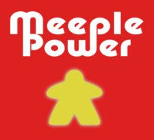 Meeple Power - Spielfigur Männchen - Carcassonne T-Shirt Kids Clothes