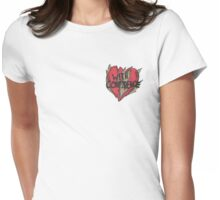With Confidence Heart Womens Fitted T-Shirt