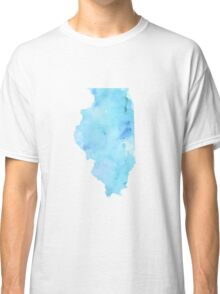 Blue Watercolor Illinois State Classic T-Shirt