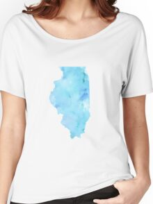 Blue Watercolor Illinois State Women's Relaxed Fit T-Shirt