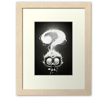 Question! Framed Print