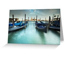 Gondolas in the Swell Greeting Card