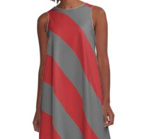 Columbus Ohio Scarlet Red and Gray Sports Team Colors A-Line Dress