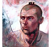 Portrait of Ben, oil painting on stretched canvas Photographic Print