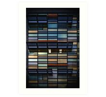 Coloured glass wall Art Print