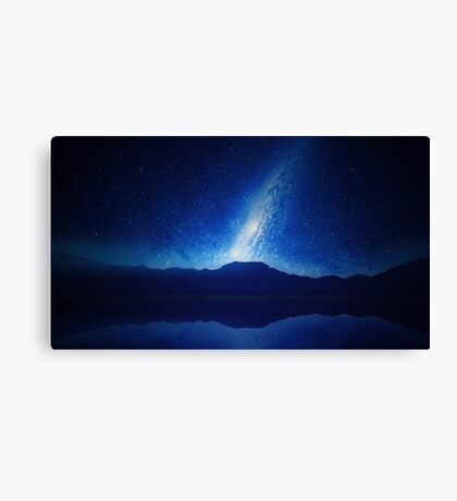 Galactic Lake View Canvas Print