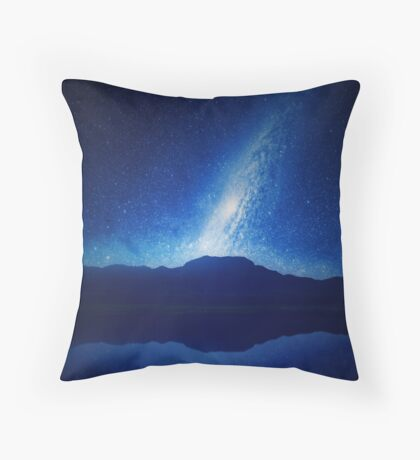 Galactic Lake View Throw Pillow