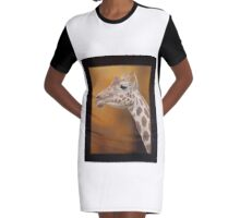 Giraffe Graphic T-Shirt Dress