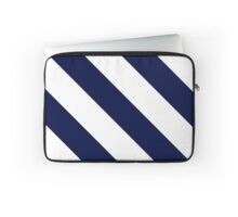 State College Pennsylvania Navy Blue and White Team Color Stripes Laptop Sleeve