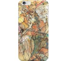 Water colour of Seed Pods and Cello player  iPhone Case/Skin