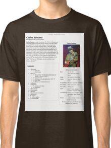 Carlos Santana Wikipedia Classic T-Shirt