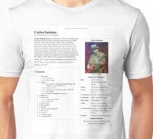 Carlos Santana Wikipedia Unisex T-Shirt