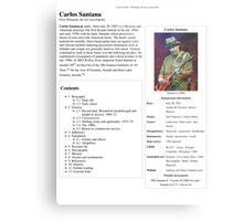 Carlos Santana Wikipedia Metal Print