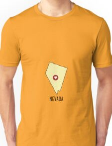 Nevada State Heart Unisex T-Shirt