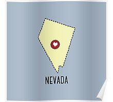 Nevada State Heart Poster