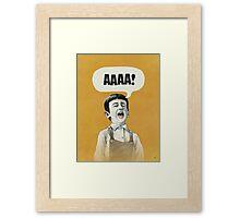 AAAA! (Gold) Framed Print
