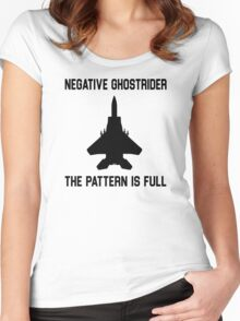 Top Gun Quote - Negative Ghostrider The Pattern Is Full Women's Fitted Scoop T-Shirt