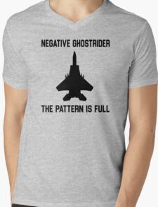 Top Gun Quote - Negative Ghostrider The Pattern Is Full Mens V-Neck T-Shirt