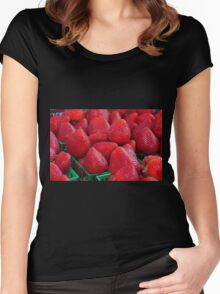 Strawberries II Women's Fitted Scoop T-Shirt