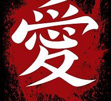 Naruto - Gaara of the Desert Symbol of Love (Splatter Ver.) by Ninjaza