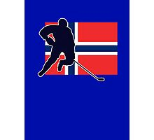 I Love Norge - Norway National Flag & Hockey Player Skjorte Photographic Print