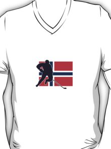 I Love Norge - Norway National Flag & Hockey Player Skjorte T-Shirt