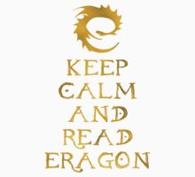 Keep calm and read Eragon (Gold text) Kids Tee