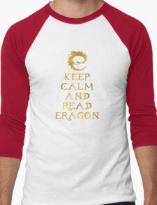 Keep calm and read Eragon (Gold text) Men's Baseball ¾ T-Shirt