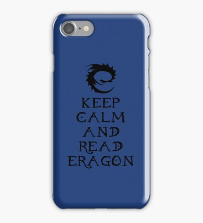Keep calm and read Eragon (Black text) iPhone Case/Skin