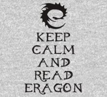Keep calm and read Eragon (Black text) Kids Clothes