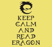 Keep calm and read Eragon (Black text) Baby Tee