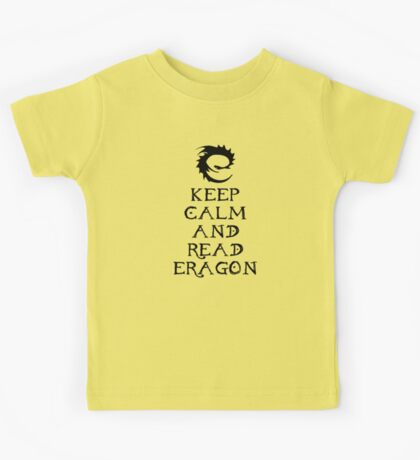 Keep calm and read Eragon (Black text) Kids Tee