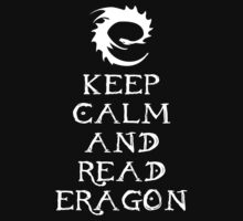 Keep calm and read Eragon (White text) Kids Clothes