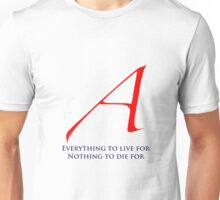 Atheism Scarlet Letter  Unisex T-Shirt