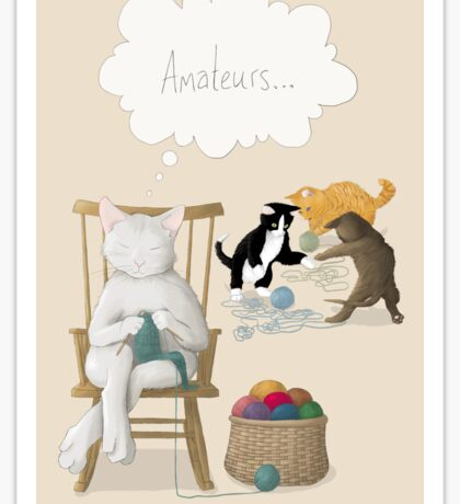 Of Cats and Yarn Sticker