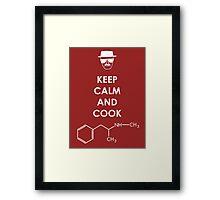 Keep calm and cook Meth - White Framed Print