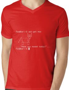 Apt-get moo (white) Mens V-Neck T-Shirt