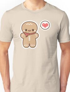 Cute Gingerbread Man Unisex T-Shirt