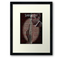 Sandler's List - A slam (flip off) to Adam Sandler Framed Print